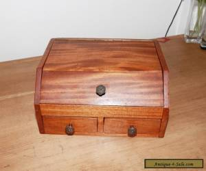 Antique Oak Games Box Writing Box Stationary Box for Sale