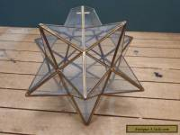 Vintage Star Shape Glass Lamp Shade - Good Condition