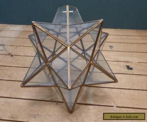 Vintage Star Shape Glass Lamp Shade - Good Condition for Sale