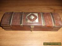 wooden box with  brass fittings