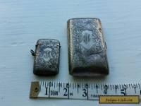 Solid Silver hallmarked Antique Case set