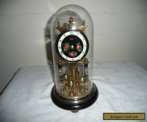 Vintage, Koma Anniversary Clock in Glass Dome, Needs Suspension Wire. VGC  for Sale
