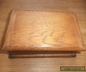 Antique  wooden box  oak box for Sale