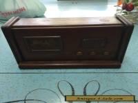 vintage retro wooden cigarette case dspenser in the shape of a radio treen