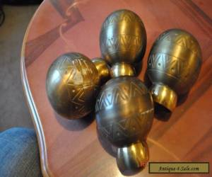 VINTAGE FOUR FINIALS BRASS  for Sale