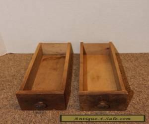 Lot of 2 Antique Vintage Long Wood Drawers w/ knobs - Cabinet - Desk - Display for Sale