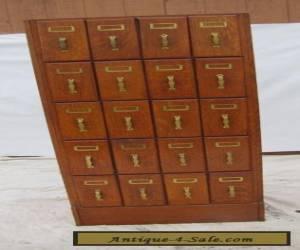 SUPERB  antique and RARE  oak FILE CABINET   w4081q for Sale