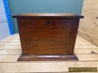 Antique Wooden Writing Box - Good Condition - Missing Key