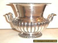 Fine Victorian Silver Plated reeded Design Urn / vase C1880