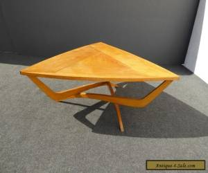 Vintage Danish Mid Century Modern Art Deco Solid Wood Triangle COFFEE TABLE  for Sale