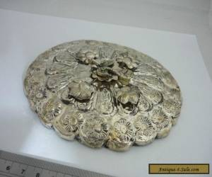 Stunning Vintage Egyptian Hallmarked Solid Silver Oval Shaped Hand Mirror for Sale