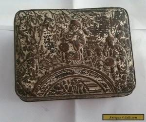 Antique Chinese/Japanese Silver On Copper small Box for Sale