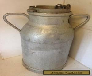 Vintage French Aluminium EURELAIT Milk Churn Garden ornament upcycled stool for Sale