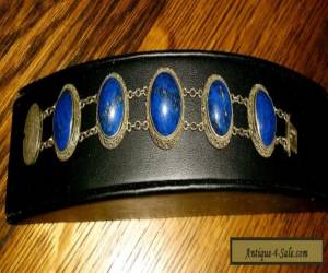 Lapis Lazuli Silver Bracelet Chinese BEAUTIFUL!!!! 1920's Antique for Sale