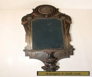 Ebonized Shelf Wall Display Wooden Brass Vintage Antique Decorative c. 1890's for Sale