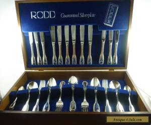 Exquisite Vintage Silver  44Pce Rodd  Cutlery Set in Box for Sale