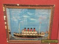 RMS Lucitania half model Folk Art C1919