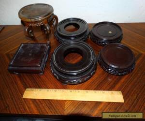 6 vintage Chinese wood stands for Sale
