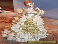 "Vintage Heirlooms Of Tomorrow Porcelain Dresden Lace Figurine Signed ""Nina"""
