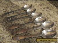 (7) FANEUIL OR QUEEN ANN TIFFANY & CO. STERLING SILVER TEASPOONS No Monogram