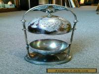 Antique Vintage Meriden B Company Silverplate Butter Dish