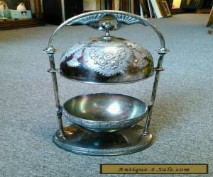 Antique Vintage Meriden B Company Silverplate Butter Dish for Sale