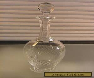 St. Louis Crystal Wine Cordial Decanter Footed w/ Stopper Etch Marked France  for Sale