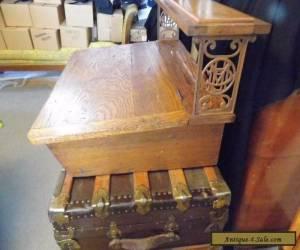 Lovely Antique Oak Table Top Agent Writing Desk Metropolitan Life Insurance for Sale