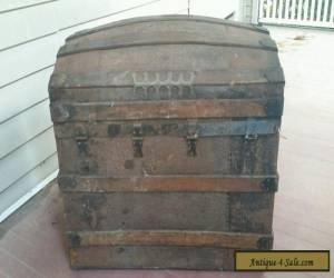 1800's Antique Large Dome Top Chest/Trunk for REPAIR for Sale