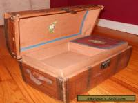 1800s Antique VICTORIAN SMALL Child DOME TOP TRUNK Old TRAVEL CHEST w/ Tray