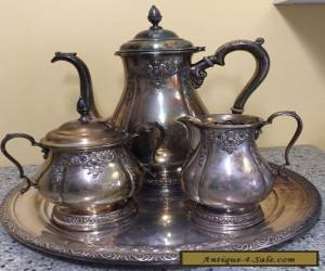 International Prelude Sterling Silver Coffee Tea Set Hand Chased 366C Antique for Sale