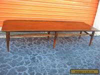 Mid Century Modern Vintage Bassett Surfboard Walnut Coffee Table