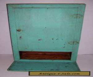 ANTIQUE VINTAGE WOODEN PAINTED WALL CABINET WITH DROP LEAF for Sale