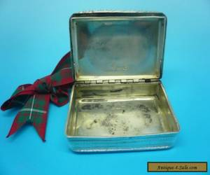 Silver Snuff Box, STERLING, Antique, English, Hallmarked 1825 for Sale