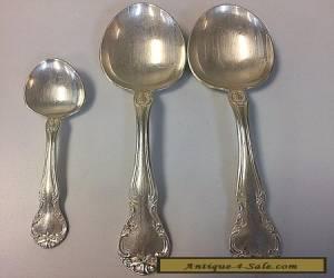 Gorham Silver Plate 1947 New Elegance 3 Piece Spoon Flatware for Sale