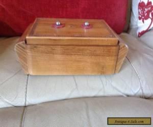 Art Deco Wooden Music/ Cigarette Box (Thorens Switzerland) for Sale
