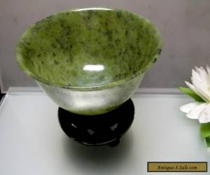 Natural Chinese antique old Jade thin bowl collectible for Sale