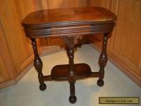 Antique wood Walnut Empire style end side Parlor table
