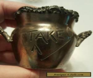 Item Old Vintage Antique Silver Plate Match Holder #52 RARE for Sale