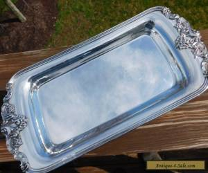 Vintage Wallace Baroque Silverplate Tray Serving Platter- Absolutely Gorgeous! for Sale