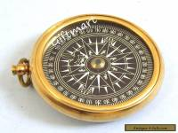 VINTAGE BRASS COMPASS OLD STYLE SOLID BRASS COMPASS