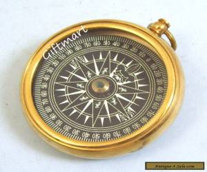 Item VINTAGE BRASS COMPASS OLD STYLE SOLID BRASS COMPASS  for Sale