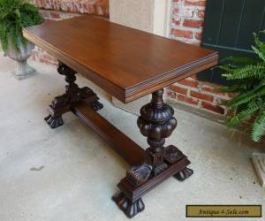 Item Antique English Carved Mahogany Hall Sofa Table Desk Victorian for Sale