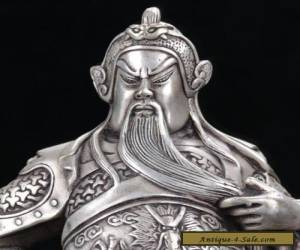 Item Old Chinese cupronickel  Hand Carved Guan Yu Statue W Qianlong Mark  for Sale