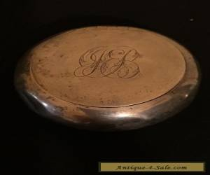ANTIQUE SOLID STERLING SILVER SNUFF /PILL BIC c1915 Birmingham for Sale