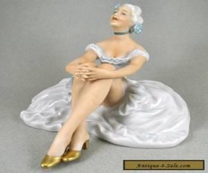 Beautiful Estate Unterweissbach German Porcelain Lady Dancer Figurine for Sale