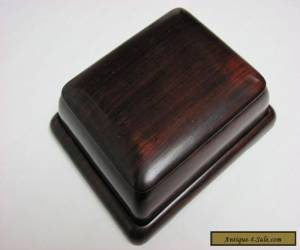 Antique 19th Century Chinese Zitan Rosewood Carved Covered Box and Tray for Sale