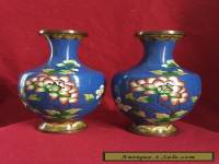 A pair of antique Chinese Cloisonne Vase