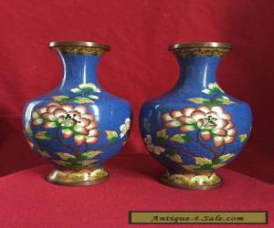 A pair of antique Chinese Cloisonne Vase for Sale