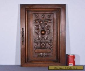 French Antique Deeply Carved Panel/ Door Solid Walnut Wood for Sale